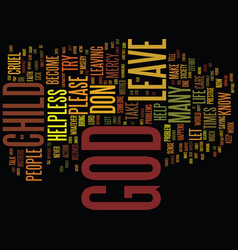 Left to god text background word cloud concept vector