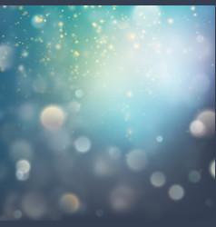 lights on blue background bokeh effect eps 10 vector image vector image