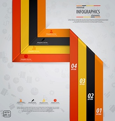 line infographics 5 vector image vector image