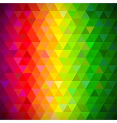 Multicolored triangles pattern background vector image vector image