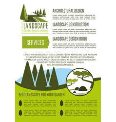 Poster for landscape garden design company vector