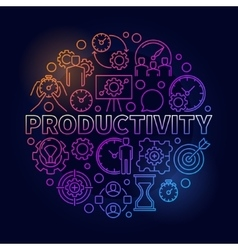 Productivity colorful round vector image vector image