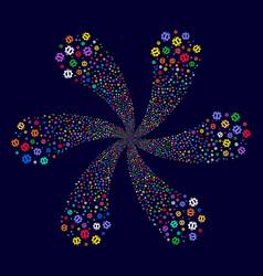 Service tools rotation flower shape vector