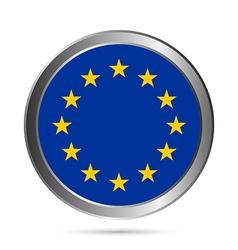 The European Union flag button vector image vector image
