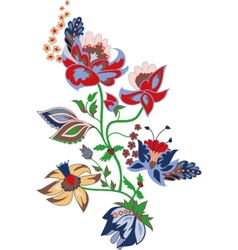 Traditional flower vector image