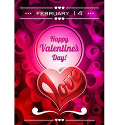 Valentines Day with text space and lo vector image vector image