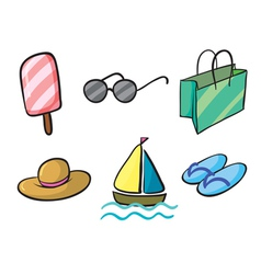 various holiday objects vector image