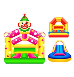 Bouncing castles vector image