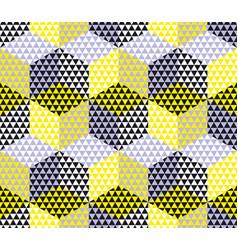 Yellow and gray geometry hexagon seamless fabric vector