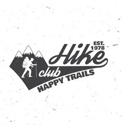 Hike club happy trails vector