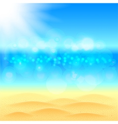 Summer background with beach sea and sky vector