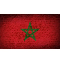 Flags morocco with dirty paper texture vector