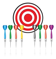 Target and darts vector