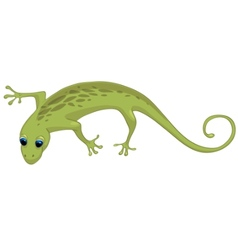 Cartoon character lizard vector