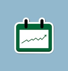 Stock raise up high with calendar vector