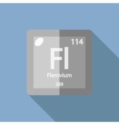 Chemical element flerovium flat vector