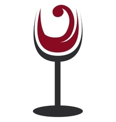 Abstract glass of wine graphic vector