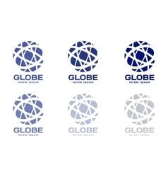 Abstract earth logo Globe logo icon vector image