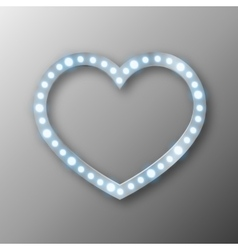abstract heart with lights vector image