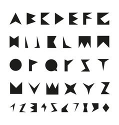 Black font with numbers vector image vector image