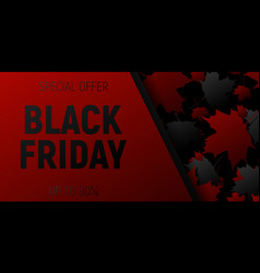 black friday sale web horizontal banners black vector image vector image