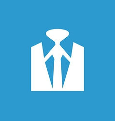 Business wear icon white on the blue background vector