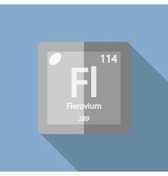 Chemical element Flerovium Flat vector image vector image