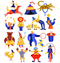circus artists collection vector image