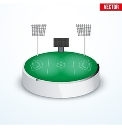 Concept of miniature round tabletop lacrosse vector