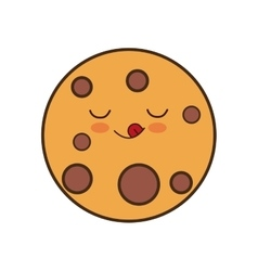 Cookie breakfast food menu icon vector