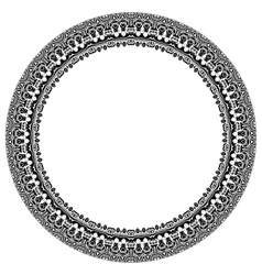 Damask Pattern Round Ornament vector image
