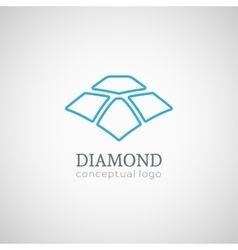 Diamond logo isolated on white vector image vector image