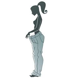 diet woman vector image