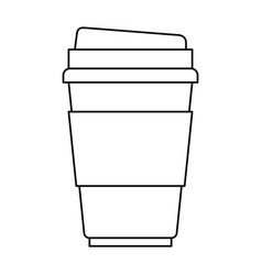 disposable cup monochrome silhouette on white vector image