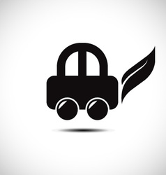 Eco friendly car icon vector image vector image