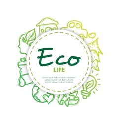 ecological icons circle composition vector image vector image