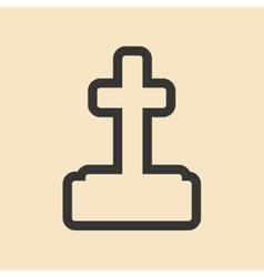Flat in black and white mobile application grave vector