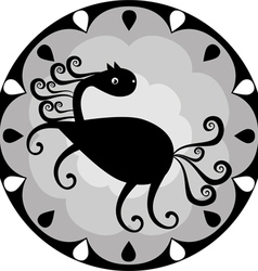 funny Chinese horoscope horse vector image