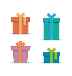 gift box with ribbon vector image vector image
