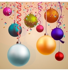 Happy new year and merry christmas background vector