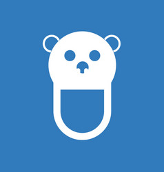 Icon on background teddy bear bib vector