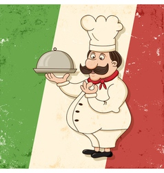 italian chef vector image