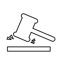 judge gavel isolated icon design vector image