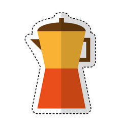 Kettle kitchen utensil isolated icon vector
