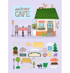 Make Your Cafe vector image vector image