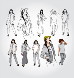 models vector image
