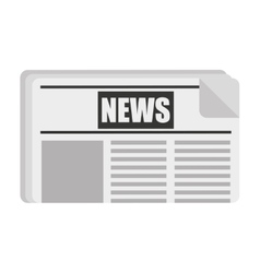 newspaper isolated icon design vector image vector image