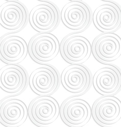 Paper white vertical merging spirals vector