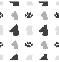 pet food seamless pattern vector image
