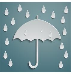 Rain umbrella vector